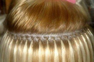 Видео наращивание волос на кератиновых