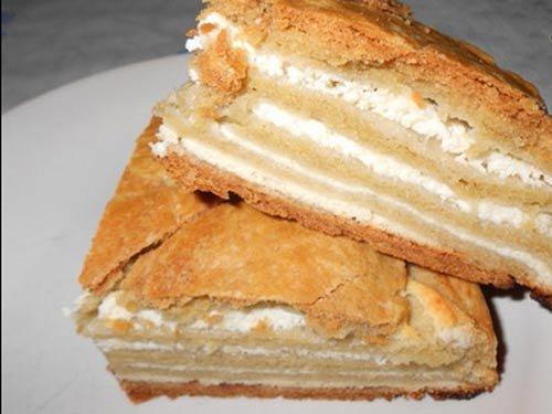 Простой пирог с творогом