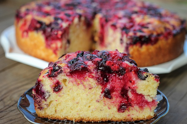 открытый пирог с малиной простой рецепт