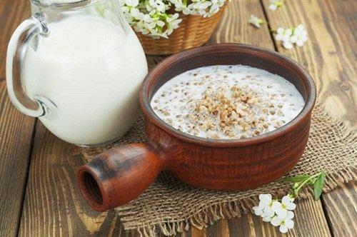 диетическая гречка с молоком