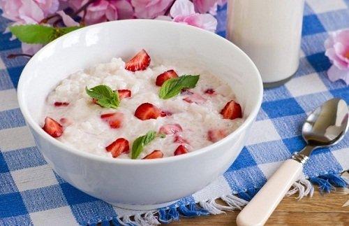 жидкая молочная каша с рисом