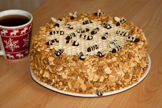 торт медовик на сковороде пошаговый рецепт с фото