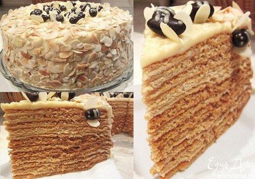 торт медовик тесто