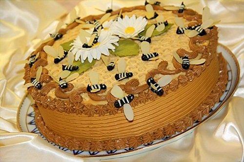 торт медовик крем