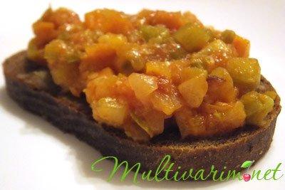 Фото рецепт кабачковой икры в мультиварке