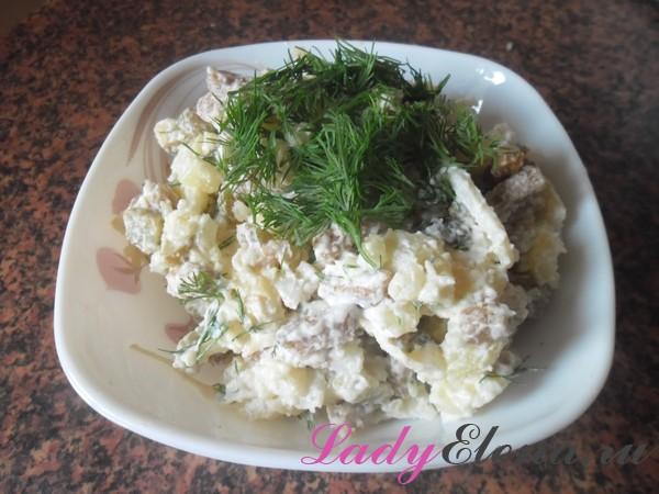 Фото рецепт салата с кальмарами