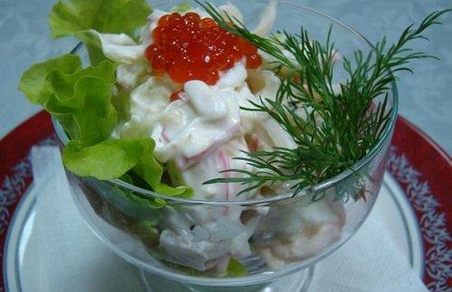 Вкусный морской салат