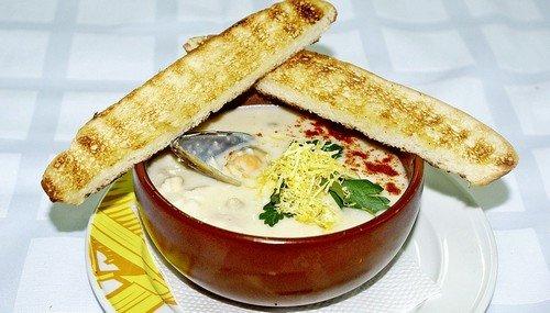 суп пюре с морепродуктами