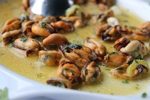 Мидии в сливочном соусе рецепт