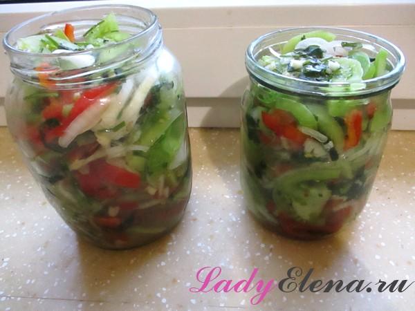 Салат из зеленых помидоров фото рецепт
