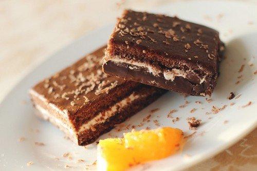 Шоколадный брауни с творогом