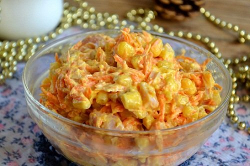 Морковь по-корейски с кукурузой