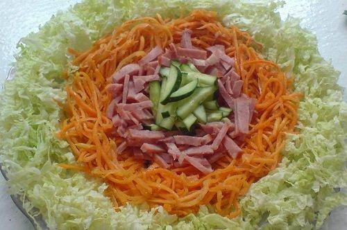 Салаты с корейской морковкой