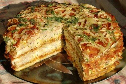 Торт из кабачковых блинов