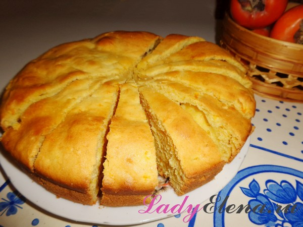 Фото рецепт пирога с тыквой