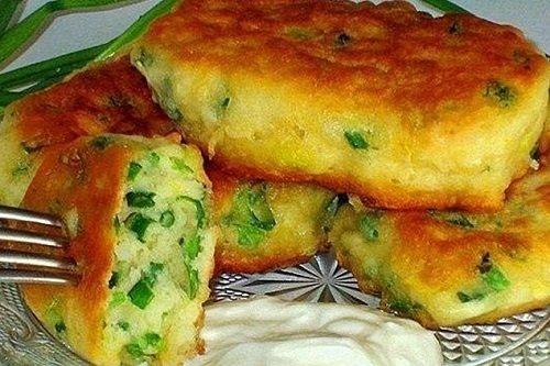 Ленивые пирожки с яйцом и луком