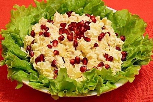 рецепты салатов с гранатом фото