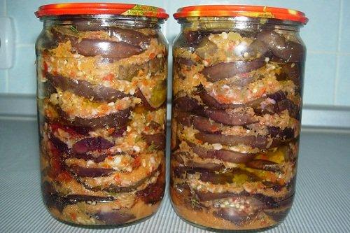 острые баклажаны на зиму рецепты с фото