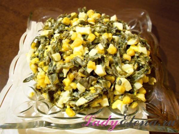 Фото рецепт салата из морской капусты