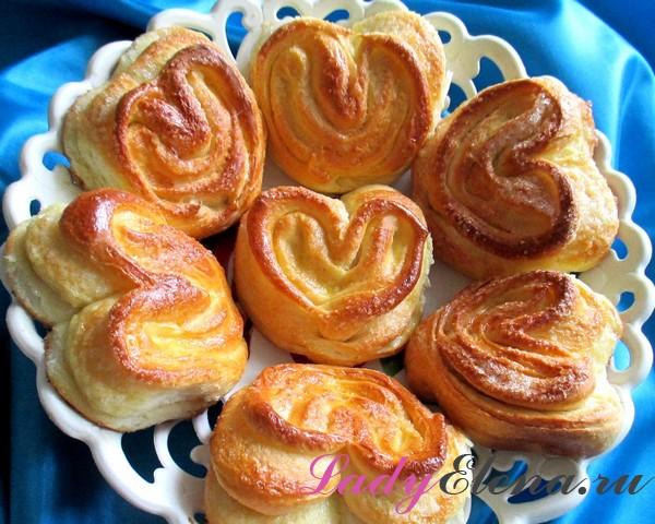 Фото рецепт плюшек в виде сердечка
