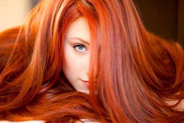 Красивые рыжие волосы со спины фото