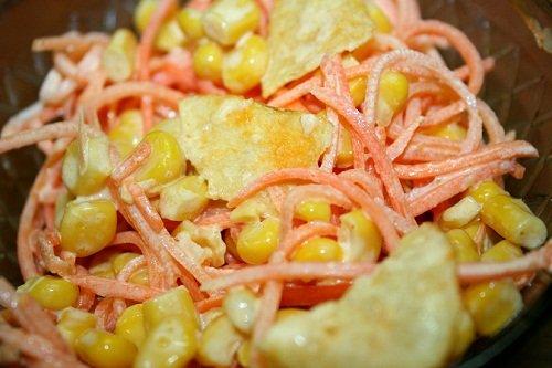 Крабовый салат по-корейски