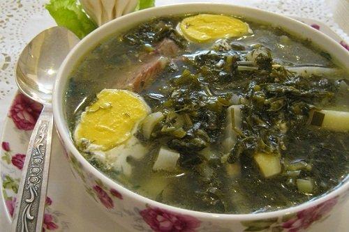 Суп с клецками и крапивой