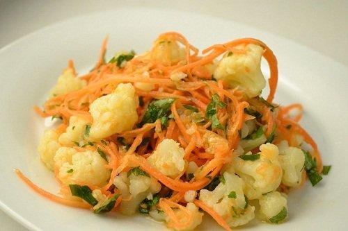Рецепт корейской цветной капусты на зиму