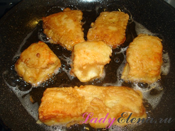 Как жарить рыбу в кляре на сковороде
