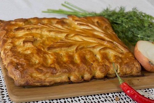 Пирог с мясом на дрожжах