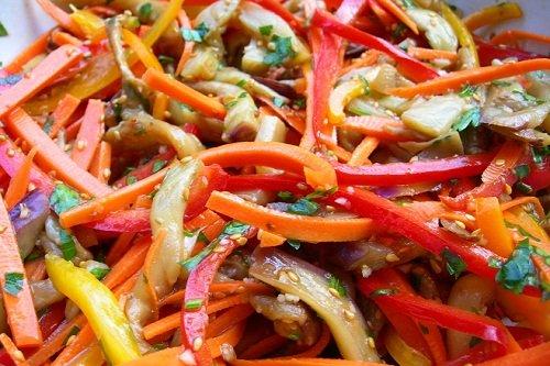 Как сделать салат из перца и баклажан