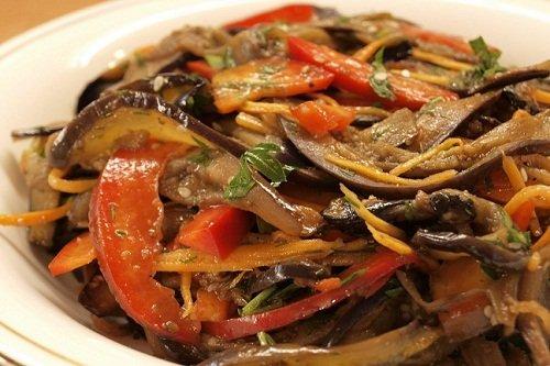 Рецепт салата из баклажанов по-корейски