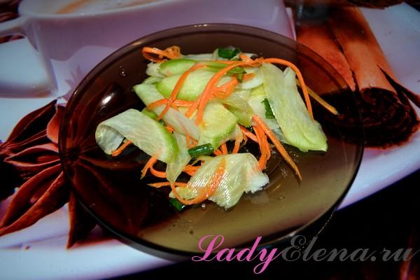 Фото рецепт салата из зеленой редьки