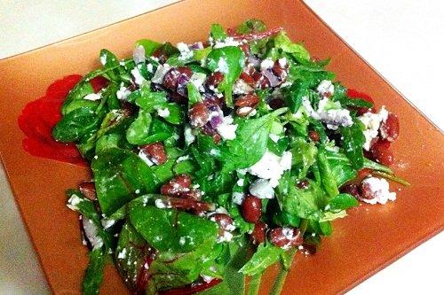 Салат на основе красной фасоли