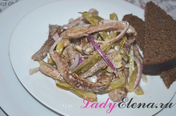 Фото рецепт салата со свининой