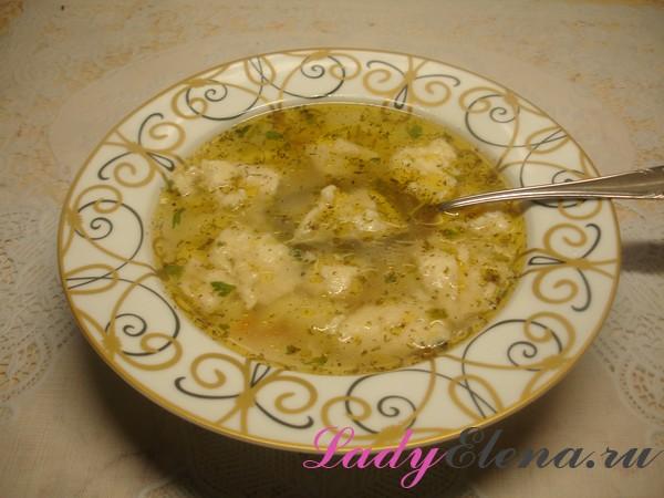 Суп с клецками фото рецепт