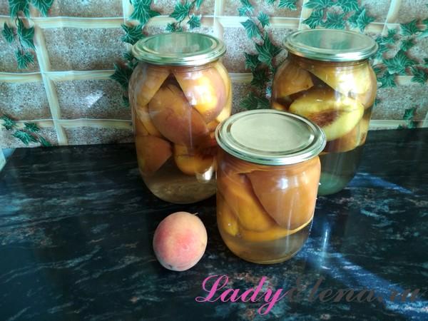 Фото рецепт компота из персиков