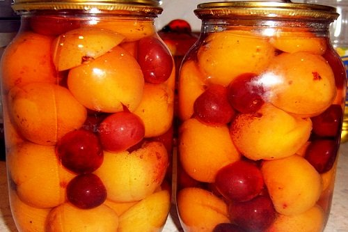 Компот с персиками и сливами на зиму