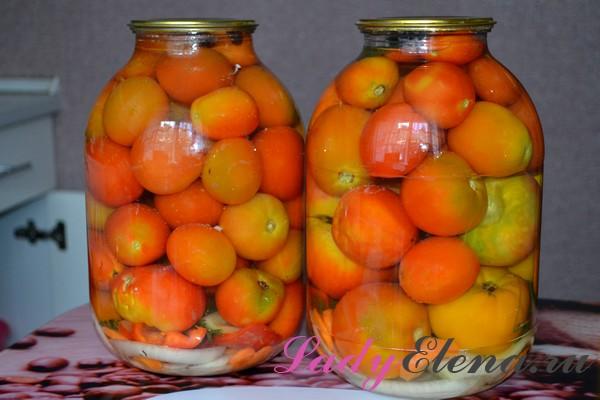 Фото рецепт помидоров в банках на зиму