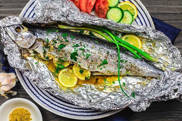 Рыба приготовленная в фольге