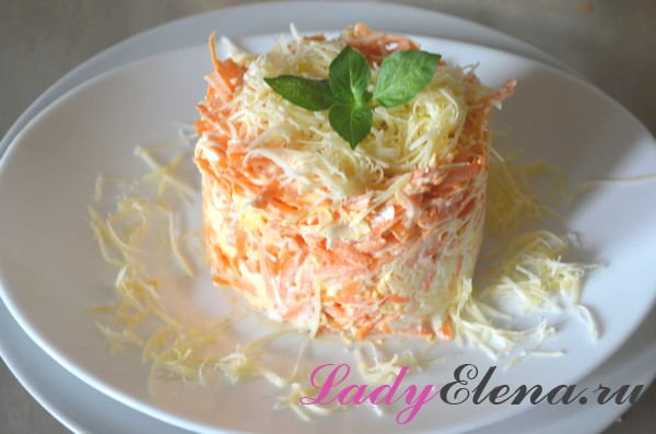 Фото рецепт салата из свежей моркови
