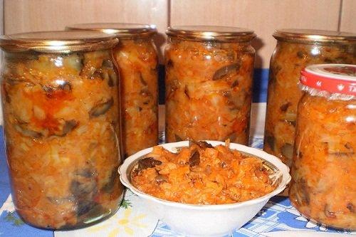Рецепт капусты с грибами на зиму