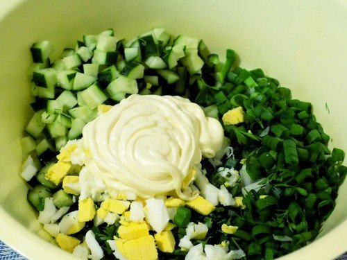 salat-iz-ogurcov-i-yaic 7