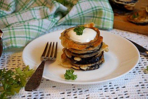 Фото рецепт баклажанов в кляре с чесноком