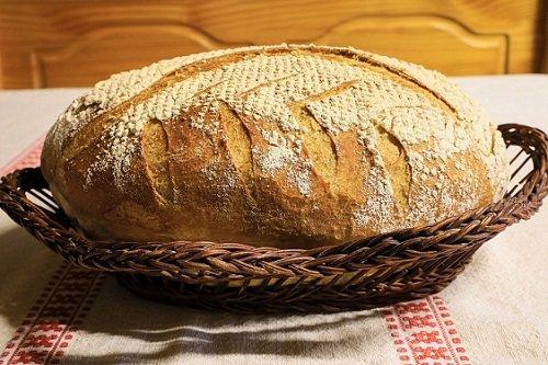 Домашний бездрожжевой хлеб