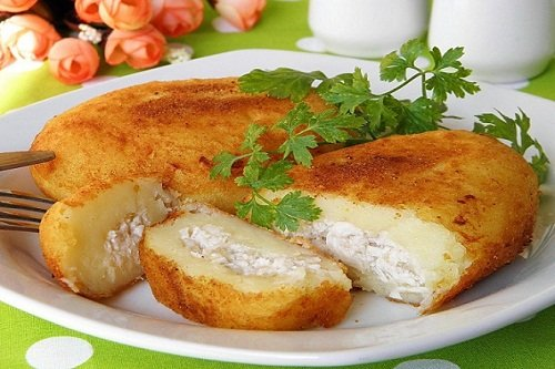 Зразы из картофеля с сыром