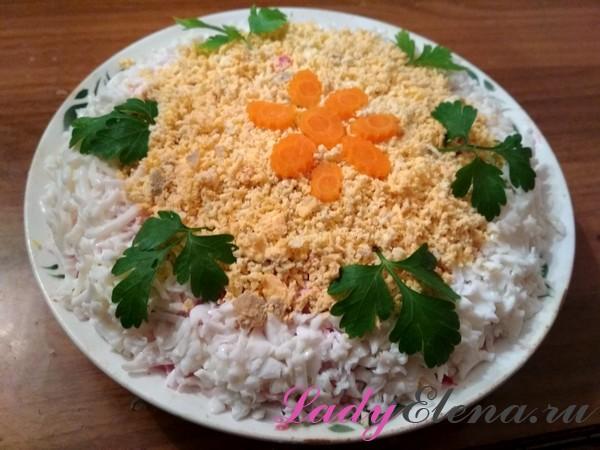 Рецепт слоеного салата с тунцом