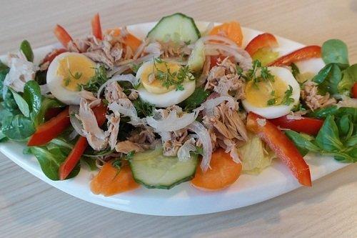 Как сделать салат с тунцом и свежим огурцом