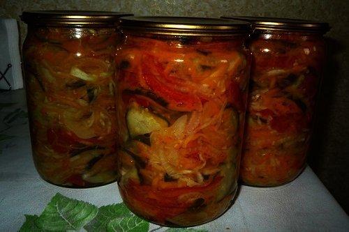 Как сделать зимний салат из помидор и огурцов