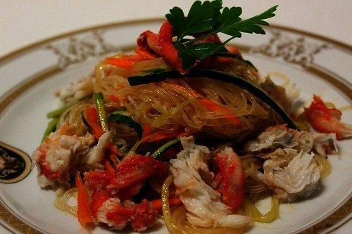 Как приготовить салат из курицы с фунчозой